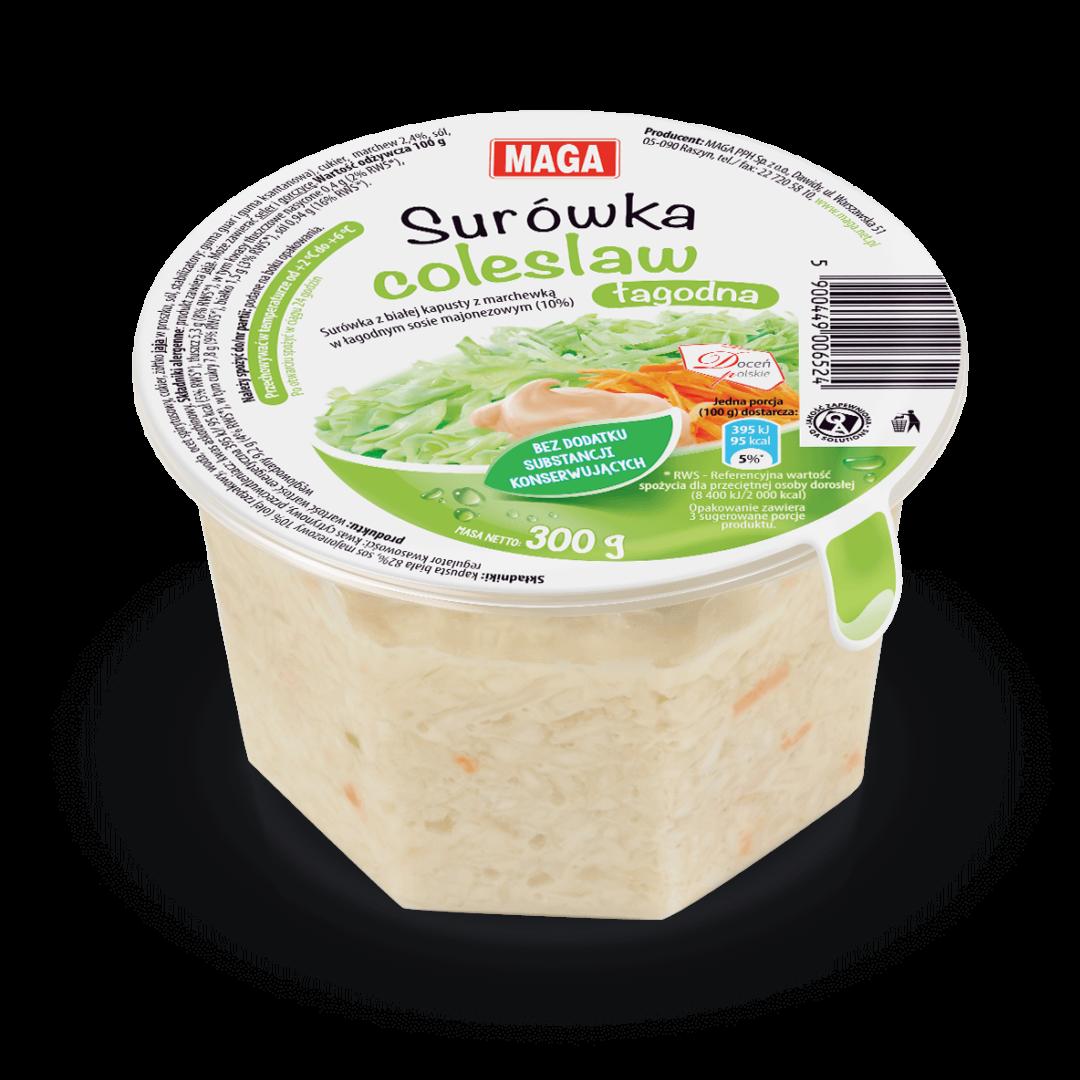 Łagodna surówka coleslaw