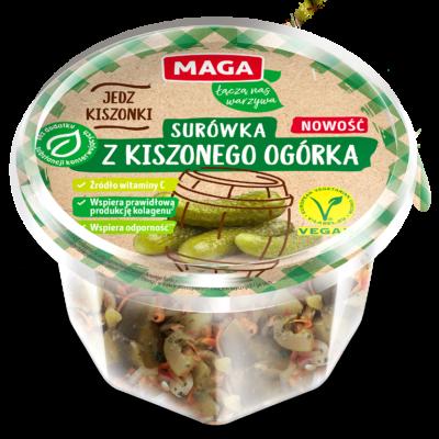 Surówka z kiszonego ogórka